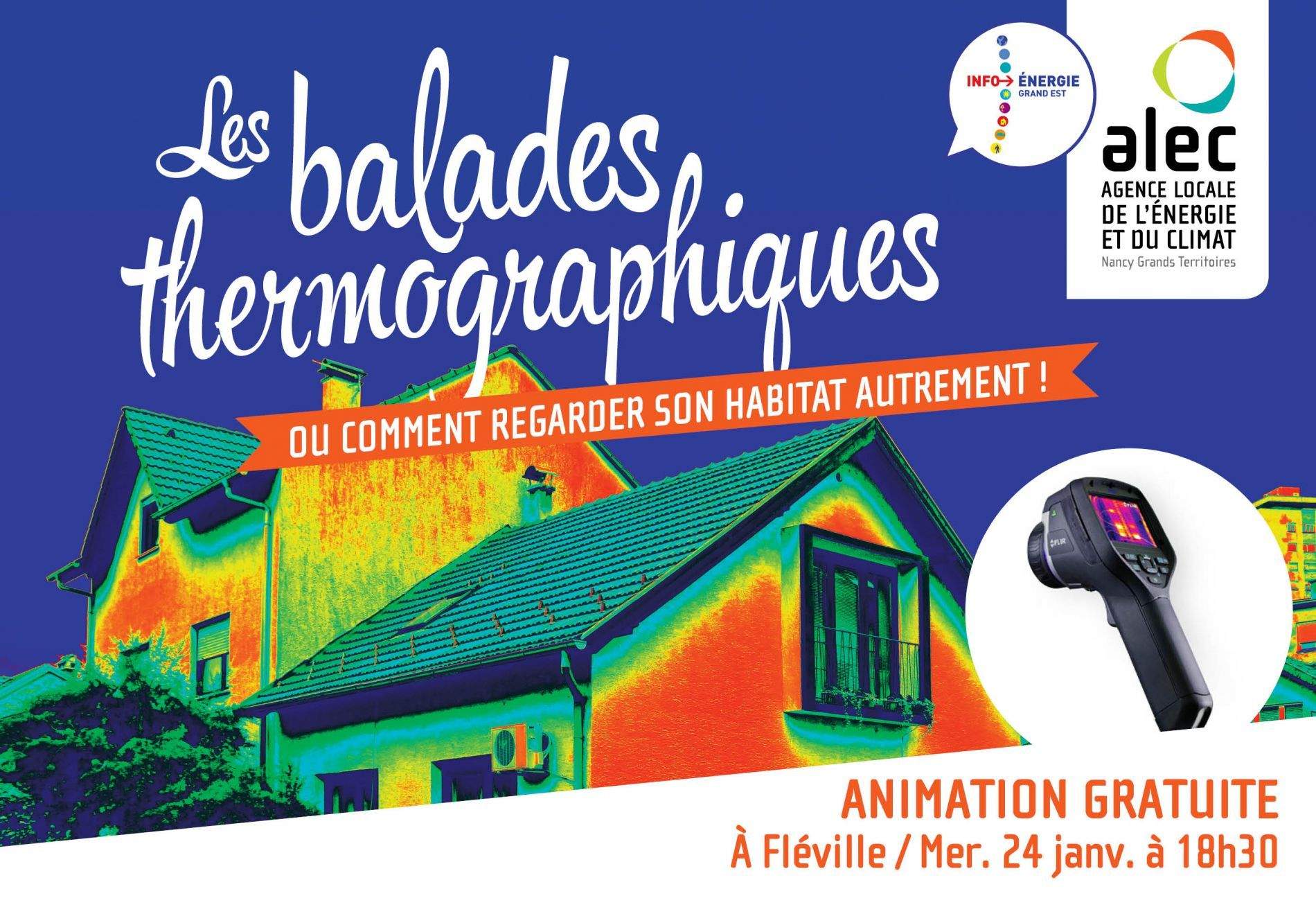Balade thermographique à Fléville-devant-Nancy