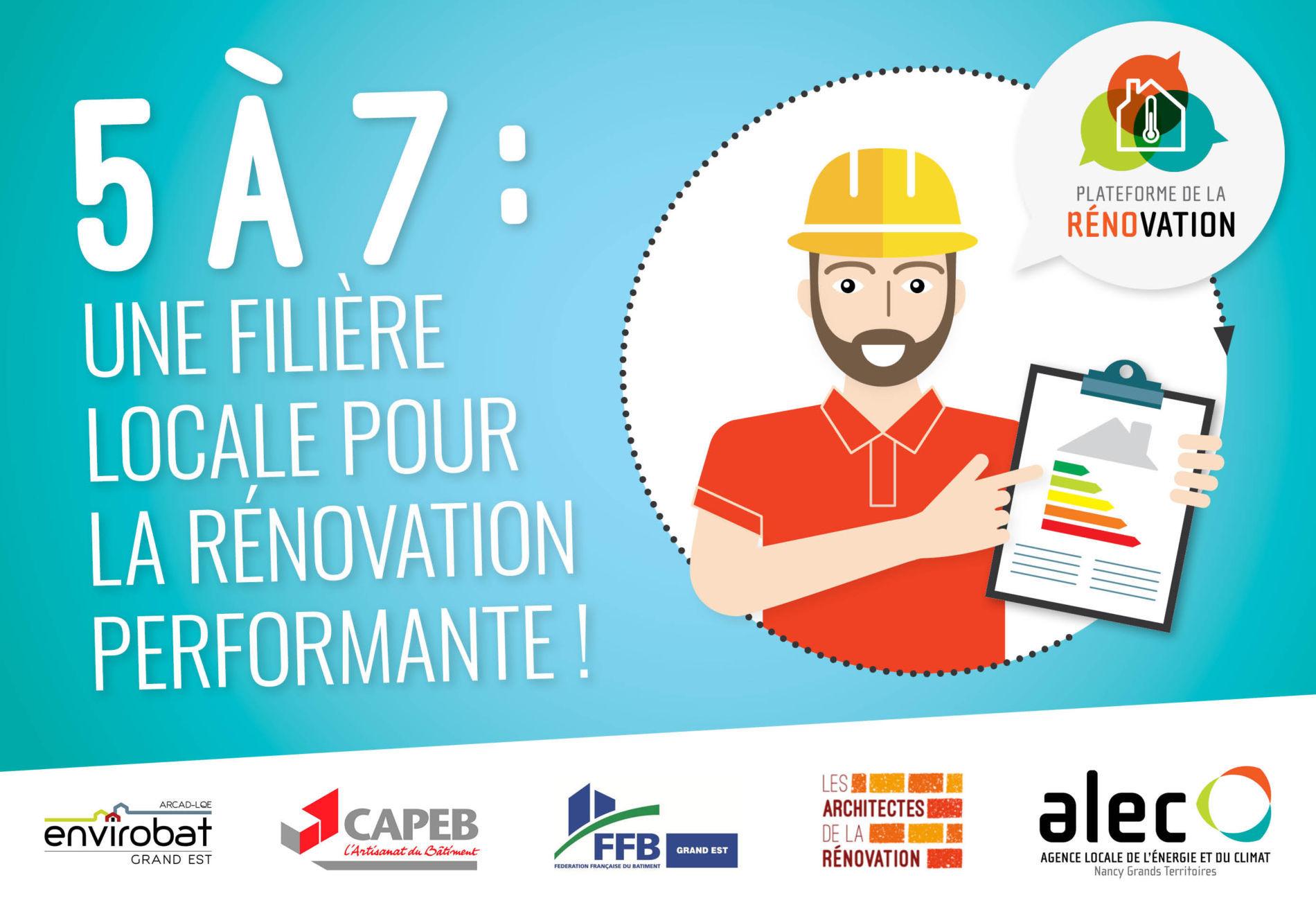 """5 à 7 """"Une filière locale pour la rénovation performante"""""""