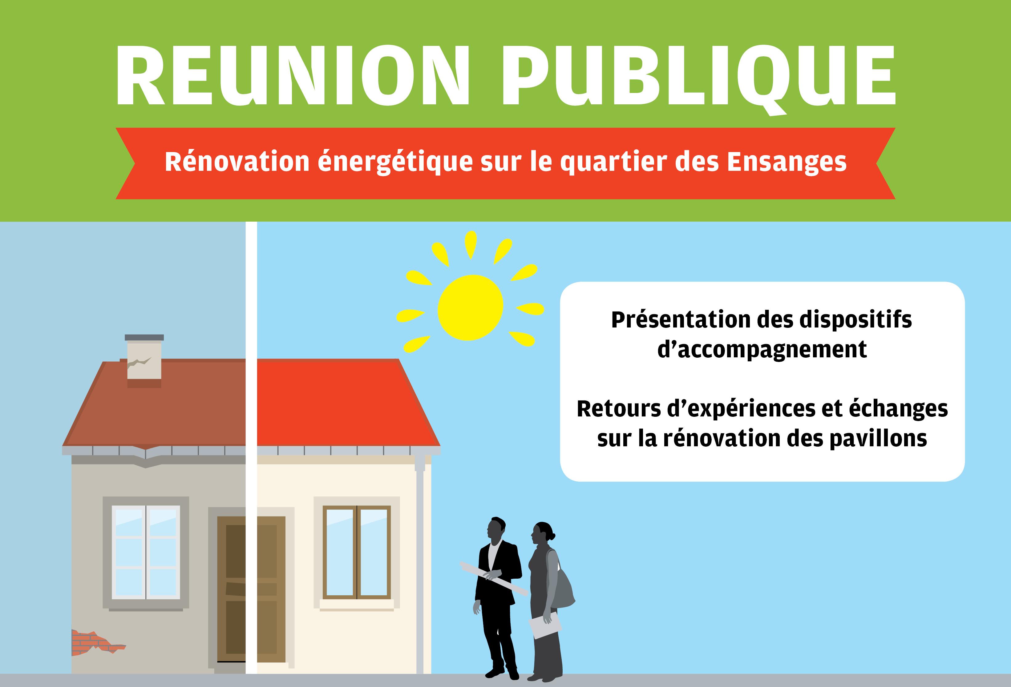 """Réunion publique """"rénovation énergétique sur le quartier des Ensanges"""" à Tomblaine"""