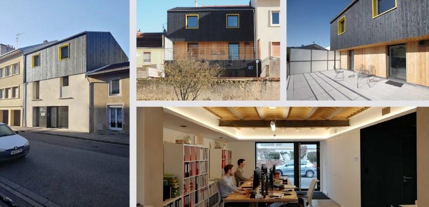 CONFÉRENCE EN LIGNE –  Présentation d'une rénovation et extension en bureaux et logement à Saint-Max (54)